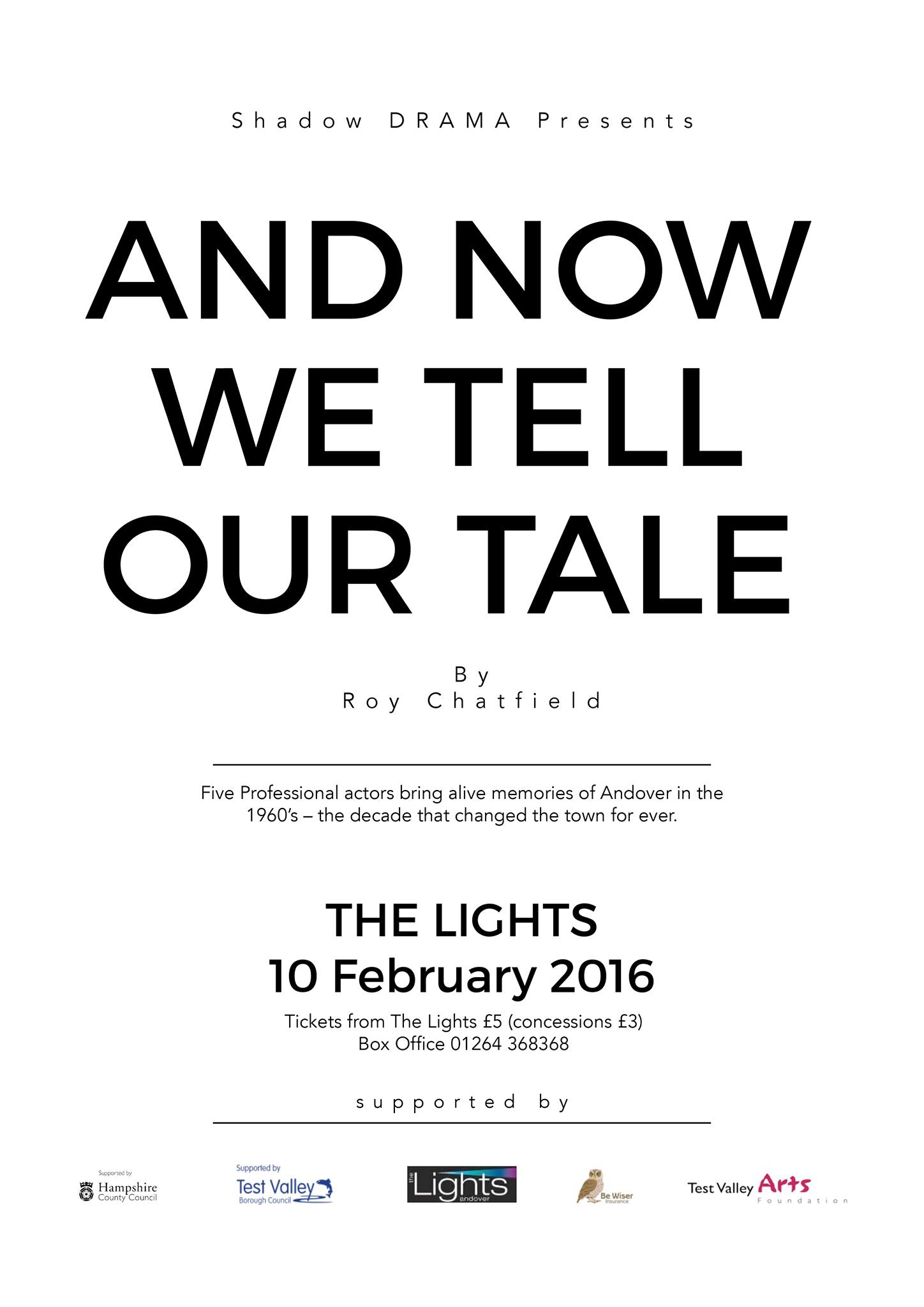 Roy Chatfield's new play only one performance at The Lights