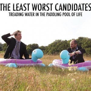 Rob Casey and James Constendine in the paddling pool of life