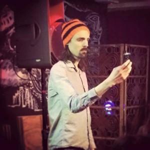 Duncan Green sharing his mobile phone poem